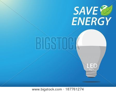 LED to save energy concept. vector illustration