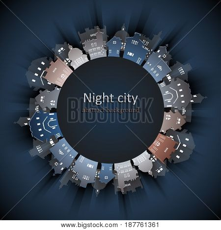 Abstract 3D Paper City background, vector illustration