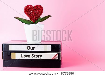Our Love story memory on vintage Video tape