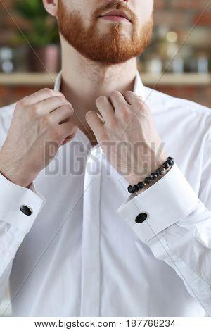 Man in a white shirt