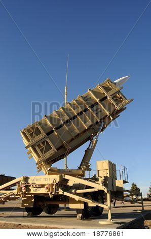 A modern mobile surface-to-air missile (SAM) defense system used by the US and its allies, primarily used as an anti-ballistic missile poster