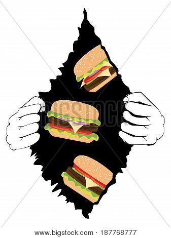 Big Tasty Burger And Hands