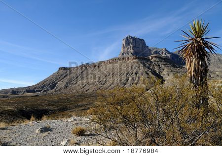 Scenic Guadalupe Mountains stretch from Texas to New Mexico