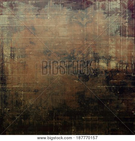 Abstract vintage background with faded grungy texture. Aged backdrop with different color patterns: yellow (beige); brown; blue; gray; black