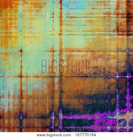 Abstract grunge background of old texture. With different color patterns: yellow (beige); brown; blue; red (orange); purple (violet); black