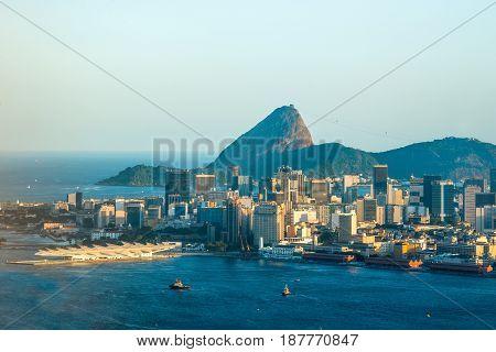 Sugarloaf Mountain in Rio de Janeiro landscape, Brazil
