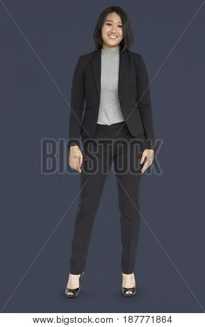 Young Asian Business Woman Smiling