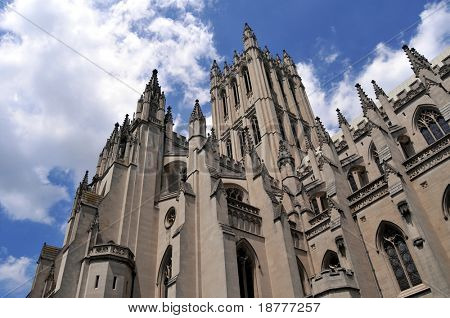 Washington National Cathedral (built in 1907-1990), belongs to the Episcopal Church, but is also used for interfaith services. The neo-gothic church is the sixth largest in the world.