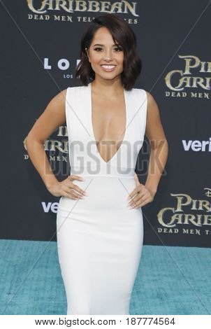 Becky G at the U.S. premiere of 'Pirates Of The Caribbean: Dead Men Tell No Tales' held at the Dolby Theatre in Hollywood, USA on May 18, 2017.