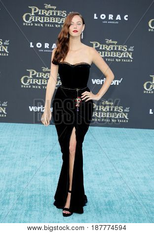 Kaya Scodelario at the U.S. premiere of 'Pirates Of The Caribbean: Dead Men Tell No Tales' held at the Dolby Theatre in Hollywood, USA on May 18, 2017.