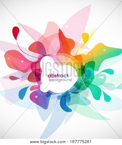 Abstract colored background with shapes. Vector art