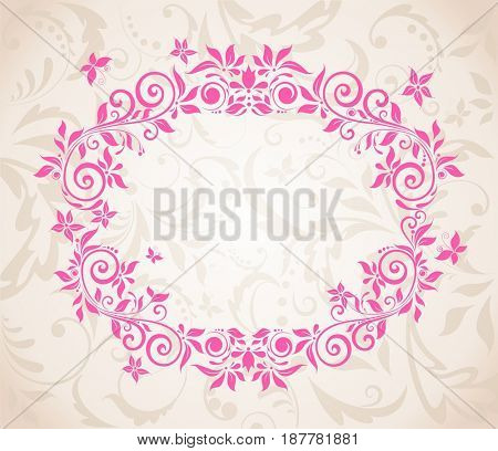 Beautiful decorative floral card