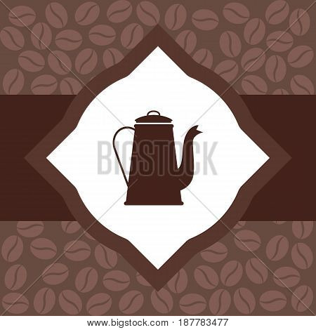 design an advertising flyer for a coffee. vector illustration. flat.