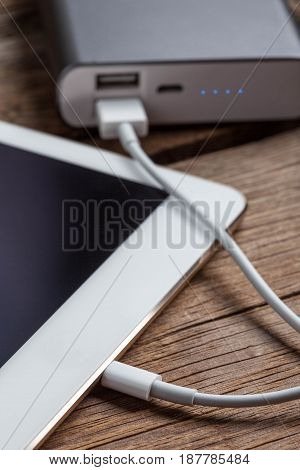 Smartphone Charging With Power Bank.