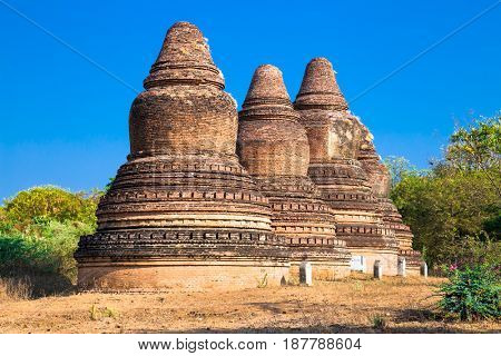 Abeyadana ancient temple in Bagan, Myanmar. (Burma)