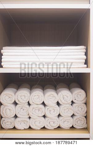 Towels In Health Club Spa