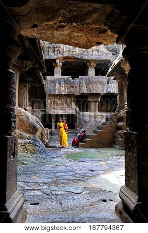 Jun 302010 Ellora cave Aurangabad Maharashtra India Indian Sub-Continent Asia