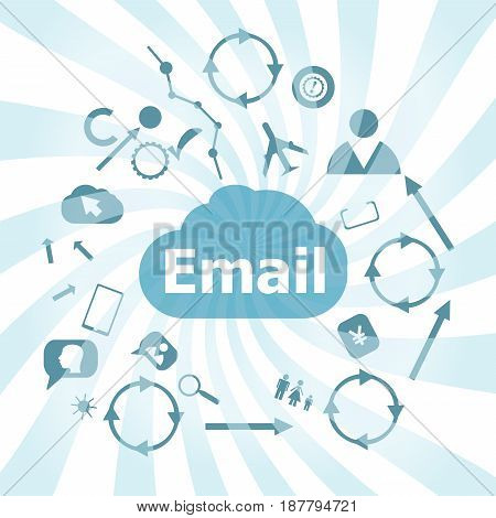Text Email. Business Concept . Set Of Web Icons For Business, Finance And Communication
