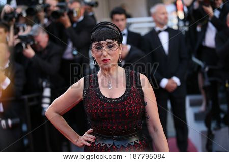 Rossy de Palma attends the 'Ismael's Ghosts (Les Fantomes d'Ismael)' screening and Opening Gala during the 70th annual Cannes Film Festival at Palais  on May 17, 2017 in Cannes, France.