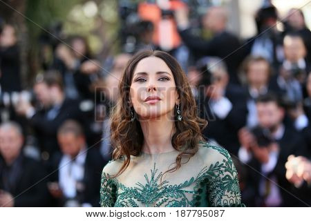 Frederique Bel attends the 'Ismael's Ghosts (Les Fantomes d'Ismael)' screening and Opening Gala during the 70th annual Cannes Film Festival at Palais  on May 17, 2017 in Cannes, France.