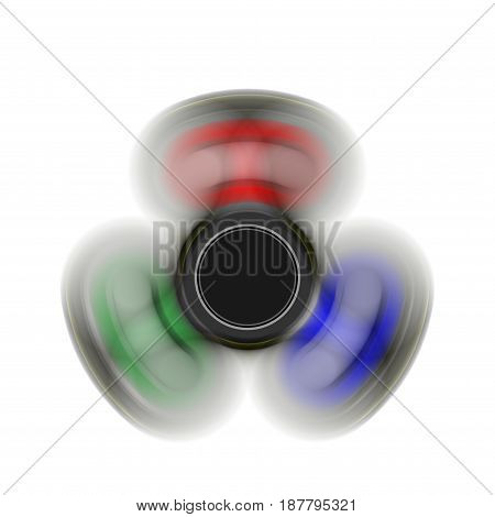 spinner on the move -  toy moving for stress relief and attention enhancement. 3D Render illustration