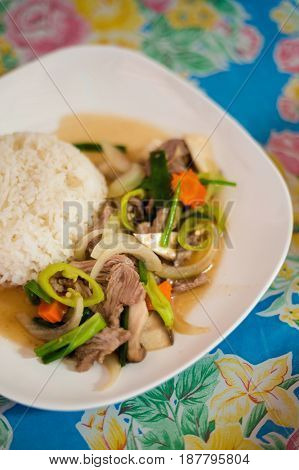 Green Pepper Beef Vegetable Stirfry
