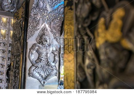 Wat Sri Suphan, the famous Silver Temple in Chiang Mai, Thailand