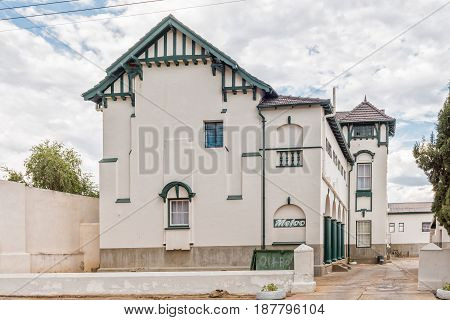 GRAAFF REINET SOUTH AFRICA - MARCH 22 2017: An historic old building in Graaff Reinet in the Eastern Cape Province