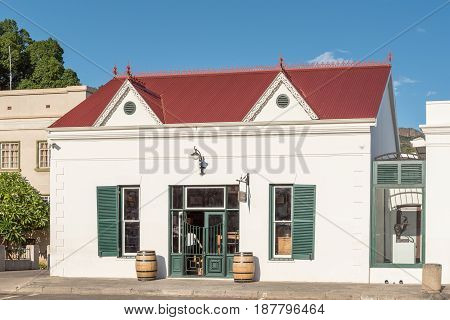 GRAAFF REINET SOUTH AFRICA - MARCH 23 2017: A winery in Graaff Reinet a town with more than 200 buildings declared as a national monuments