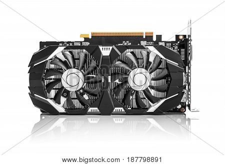 Game graphics card isolated on white background.