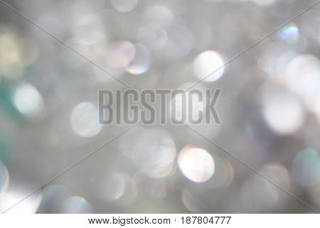 Silver glitter light blurred blur bokeh style party background