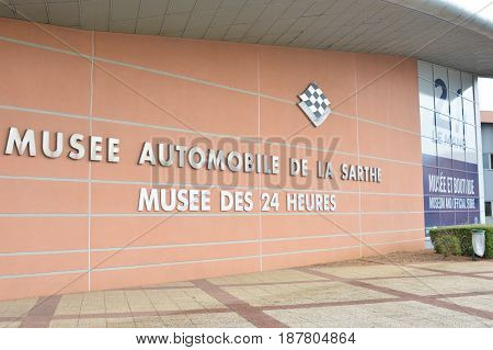 LE MANS, FRANCE - APRIL 30, 2017: Museum of cars 24 hours Le mans Sarthe, Pays de la Loire, France -Le Mans