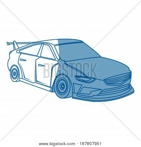 sport car. expensive sportcar technology auto style vector illustration