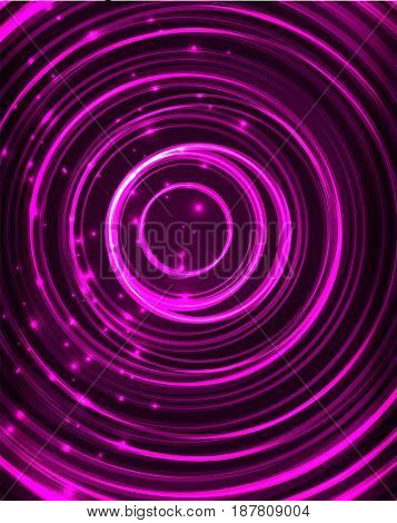 Neon purple circles abstract pattern background