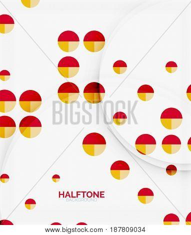 Halftone color texture background