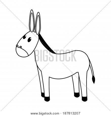 cute mule manger character design vector illustration