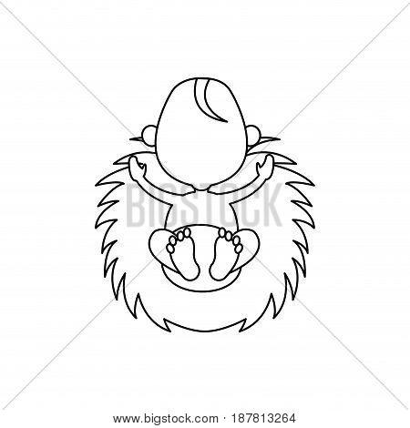 cartoon baby jesus icon. christmas design. vector illustration