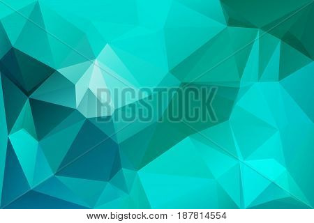 Turquoise Green Low Poly Background