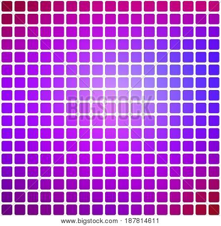 Pink purple blue vector abstract rounded corners tiles mosaic over white background square