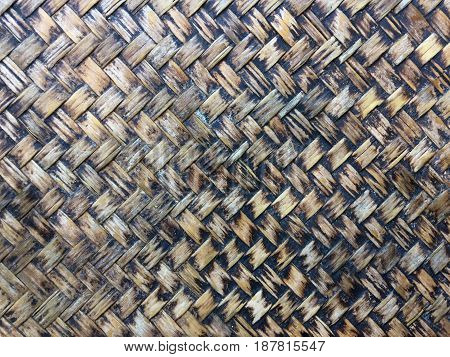 Texture of Bamboo Handicraft in Thai style