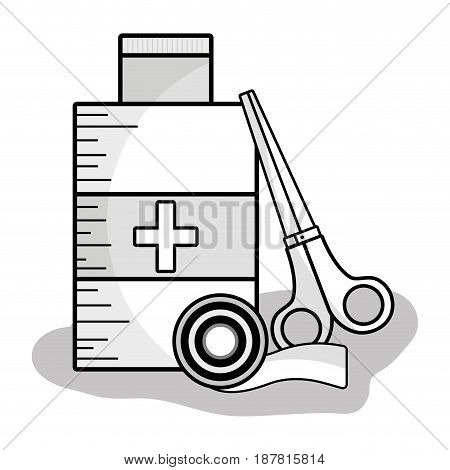 first aid kit to healthcare people, vector illustration