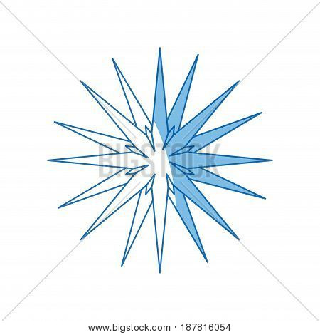 star christmas new year celebration line icon vector illustration
