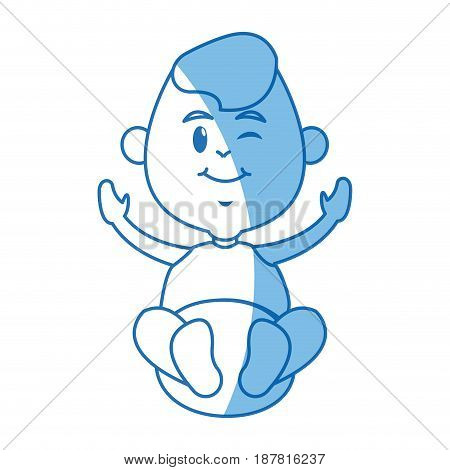 cute baby jesus manger character line vector illustration