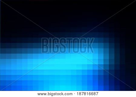 Deep and pale blue abstract vector square tiles mosaic background