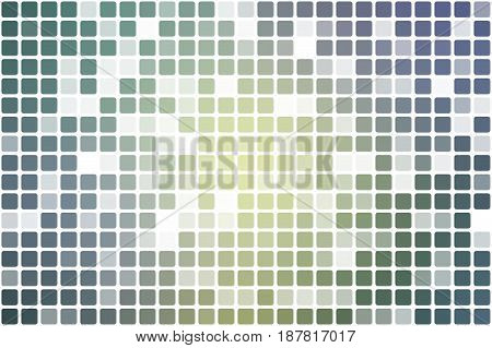 Yellow purple grey occasional opacity vector square tiles mosaic over white background