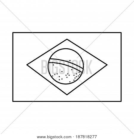 brazil blag, official national banner image vector illustration