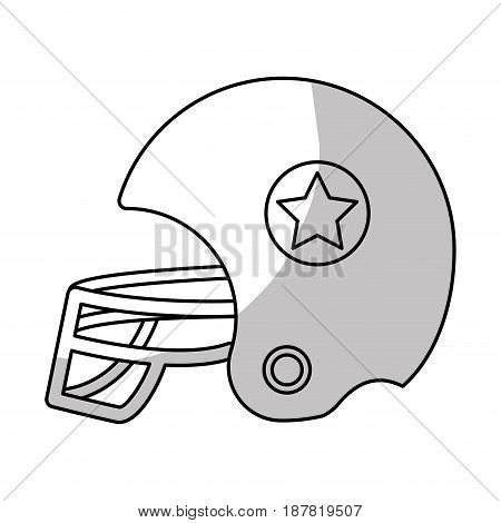 line football helment to uniform to play sport, vector illustration