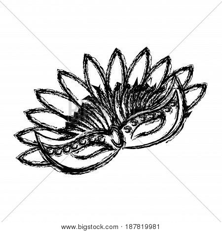 carnival mask with feathers carnival brazil festival vector illustration