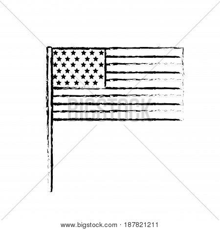 figure usa flag to celebrate holiday patriotic, vector illustration