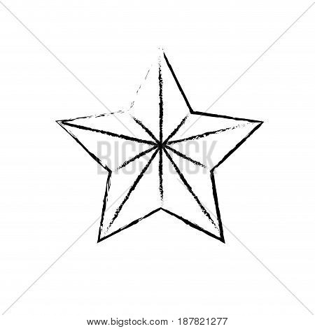 figure cute moder and big star design, vector illustration